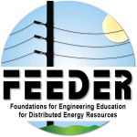 FEEDER (Foundations for Engineering Education for Distributed Energy Resources) logo