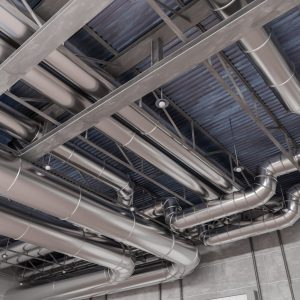 HVAC system and pipes