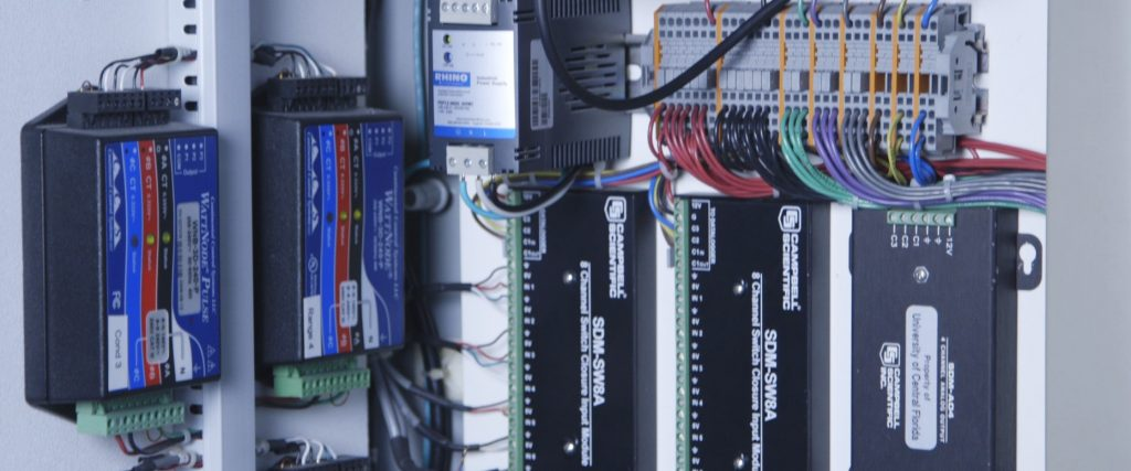 close-up of inside of a datalogger