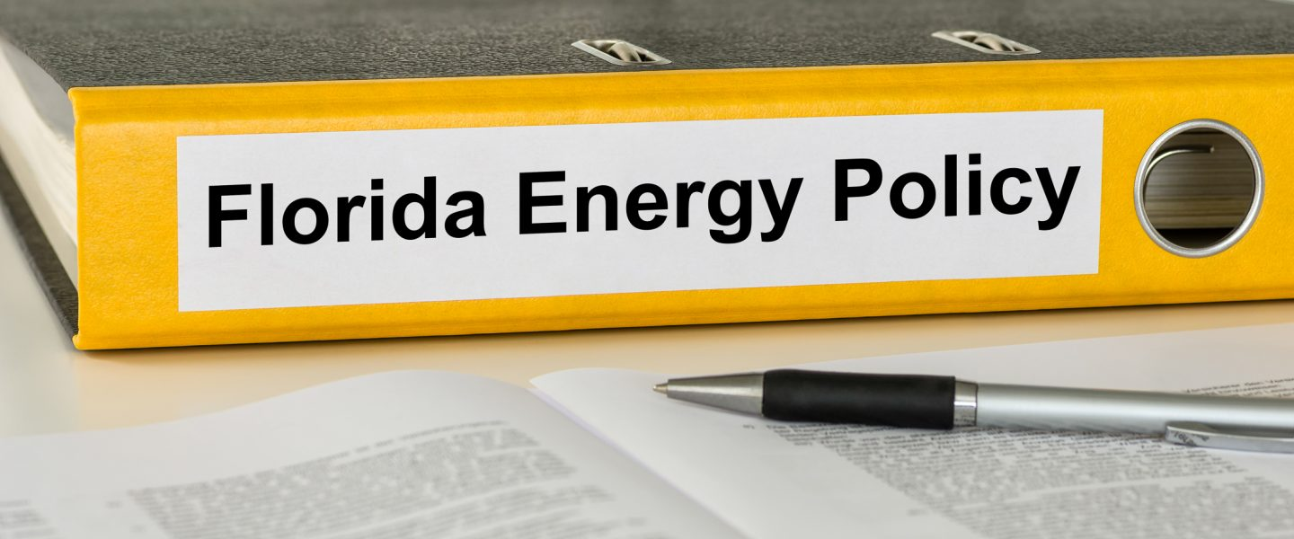 Folder with the label Florida Energy Policy