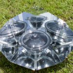 Solar cooker with a mirrored surface photo