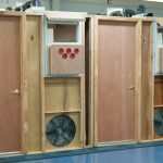 Test modules used for weatherization and blower door instruction