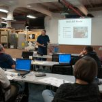 Neil Moyer teaching a continuing education training course on weatherization, photo
