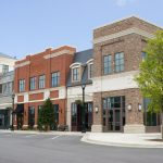 A beautiful new upscale shopping center with no tenants.