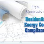 Blueprints energy code compliance online splash screen used in continuing education training course.