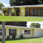 One-story Central Florida home before and after affordable housing deep energy retrofit.