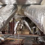 Duct system in attic of Building Science Lab