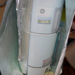 electric water heater with foil wrap insulation