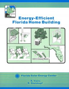 photo of the cover of the energy-efficient Florida home building book