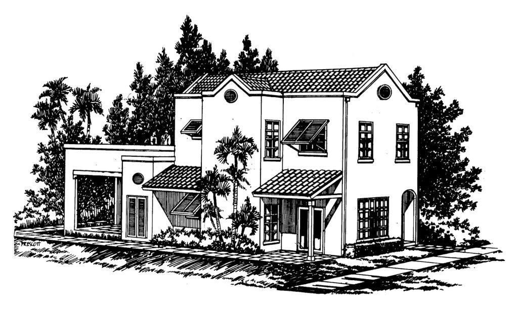 sandstone villa building plan image
