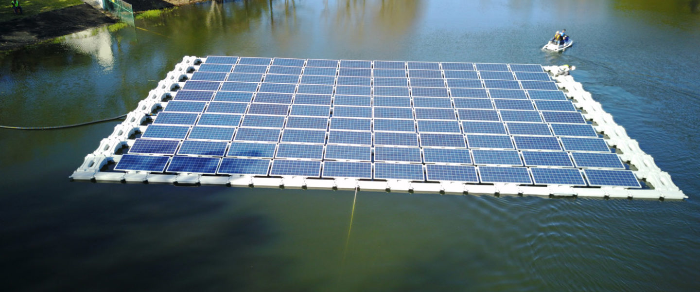 Floating solar on man-made water bodies frees up expensive real estate.