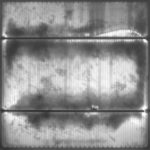 Close-up view of degraded PV cell