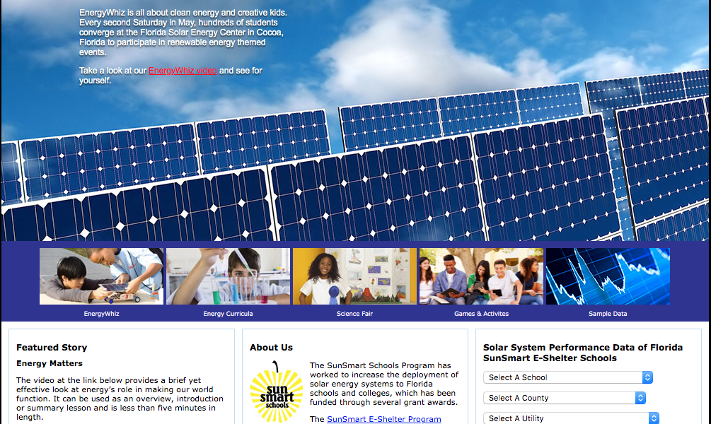 EnergyWhiz website screen capture