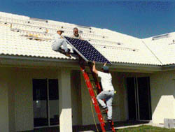 installing pv on a roof