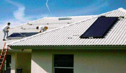 Figure 15. Solar collector for water heating at the PVRES home.