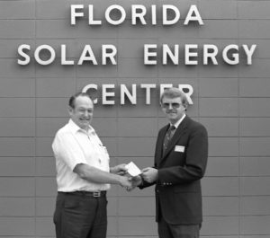Florida Solar Energy Center sign with Dr Block